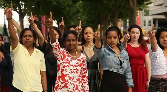 """Immagine tratta dal cortometraggio di Eve Ensler, """"One Billion Rising"""""""
