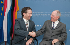 Dijsselbloem and Wolfgang Schaueble, the German Finance Minister