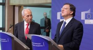 Shimon Peres e José Manuel Barroso © European Union, 2013