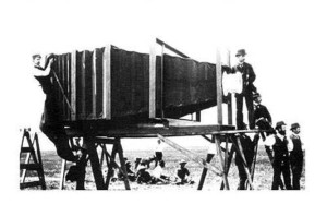 The world's first camera in the making: but, which camera took the photo?
