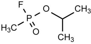 La struttura chimica del gas Sarin