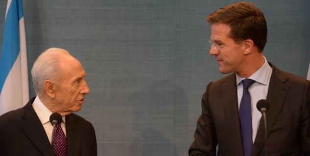 Simon Peres e Mark Rutte