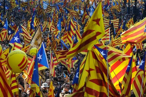 La grande manifestazione per l'indipendenza catalana dell'11 settembre scorso