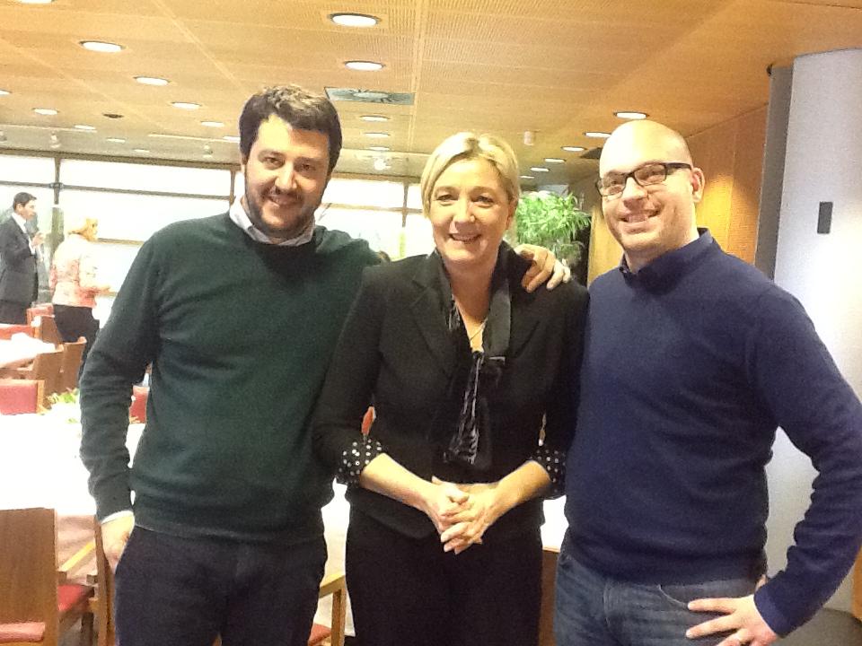 Salvini, Le Pen e Fontana
