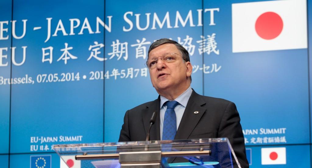 José Manuel Barroso at the podium
