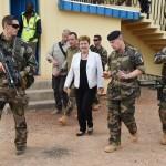 Georgieva visita le truppe in Repubblica Centrafricana
