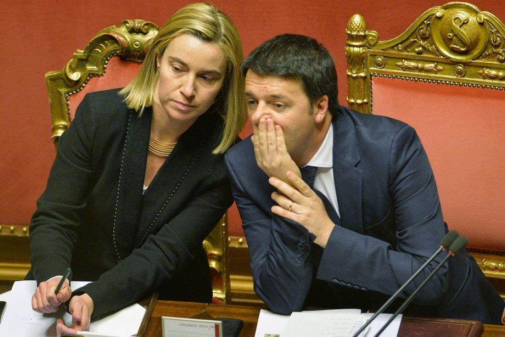 Mogherini e Renzi