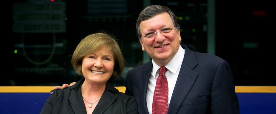 Sartori con Barroso in Parlamento