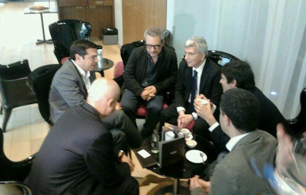 L'incontro tra Tsipras e Vendola a Bruxelles