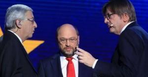 Juncker, Schulz  and Verhofstadt