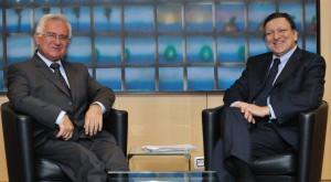 Barroso e Dalli quando questi era ancora il commissario alla Salute