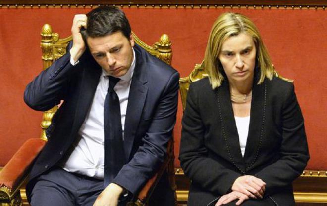 Mogherini Renzi
