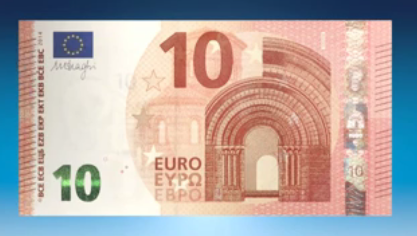 La nuova banconota da dieci euro