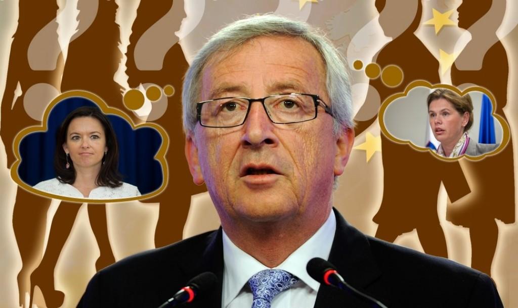 Fajon, Juncker e Bratusek in un'immagine tratta dal sito www.siol.net