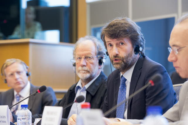 Dario Franceschini in audizione al Parlamento europeo
