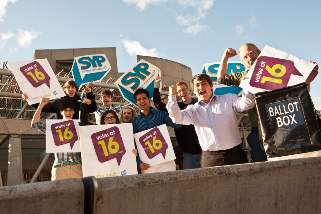 SYP celebrate lowering of the voting age to 16.