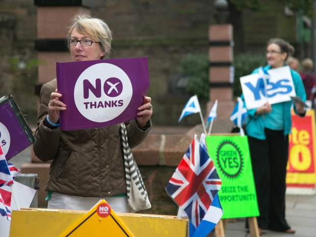 People Of Scotland Take To The Polls To Decide Their Country's Fate In Historic Vote