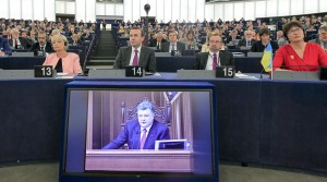L'intervento in Aula a Strasburgo del presidente ucraino Poroshenko