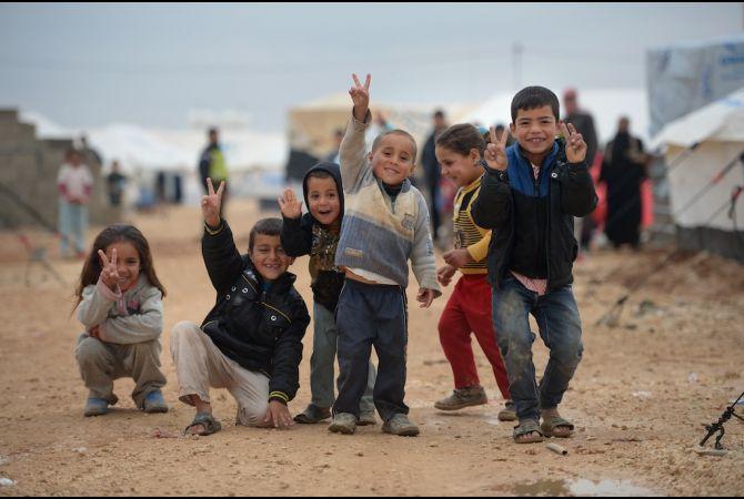 Bambini siriani profughi assistiti da Catholic Near East Welfare Association (CNEWA) in Libano