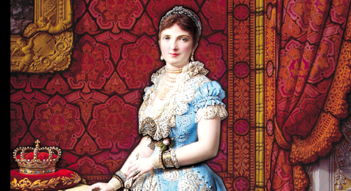 La vetrata della regina Margherita dello studio Moretti Caselli (Francesco Moretti, 1881)