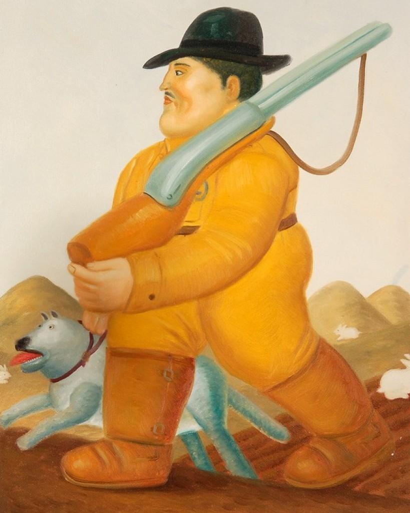 Il Cacciatore con il cane di Botero