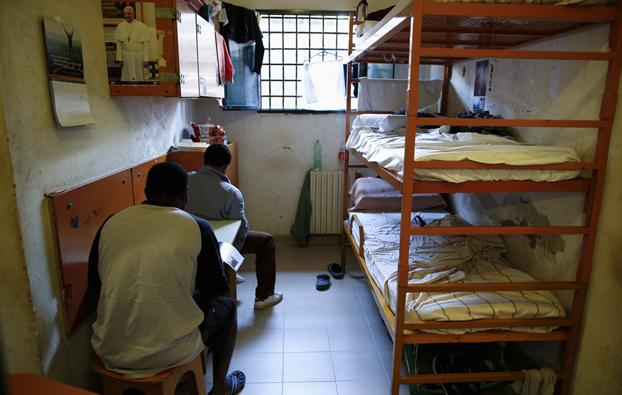 Una cella di Regina Coeli a Roma