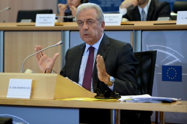 Il commissario all'Immigrazione Dimitris Avramopoulos