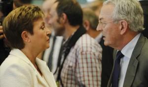 La commissaria al Bilancio Georgieva e il responsabile dei negoziati per il Parlamento Arthuis - ph. Parlamento Ue