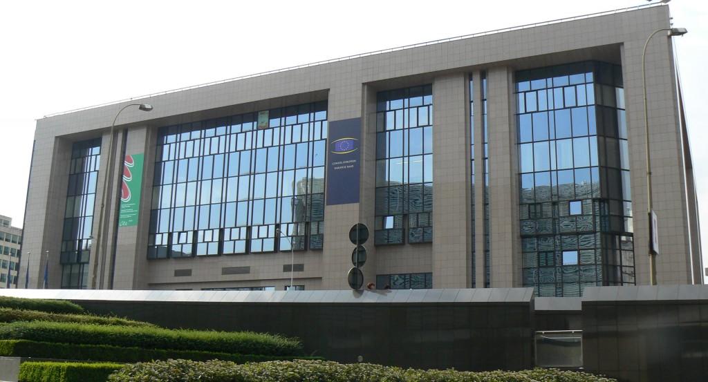 Il palazzo del Consiglio europeo a Bruxelles