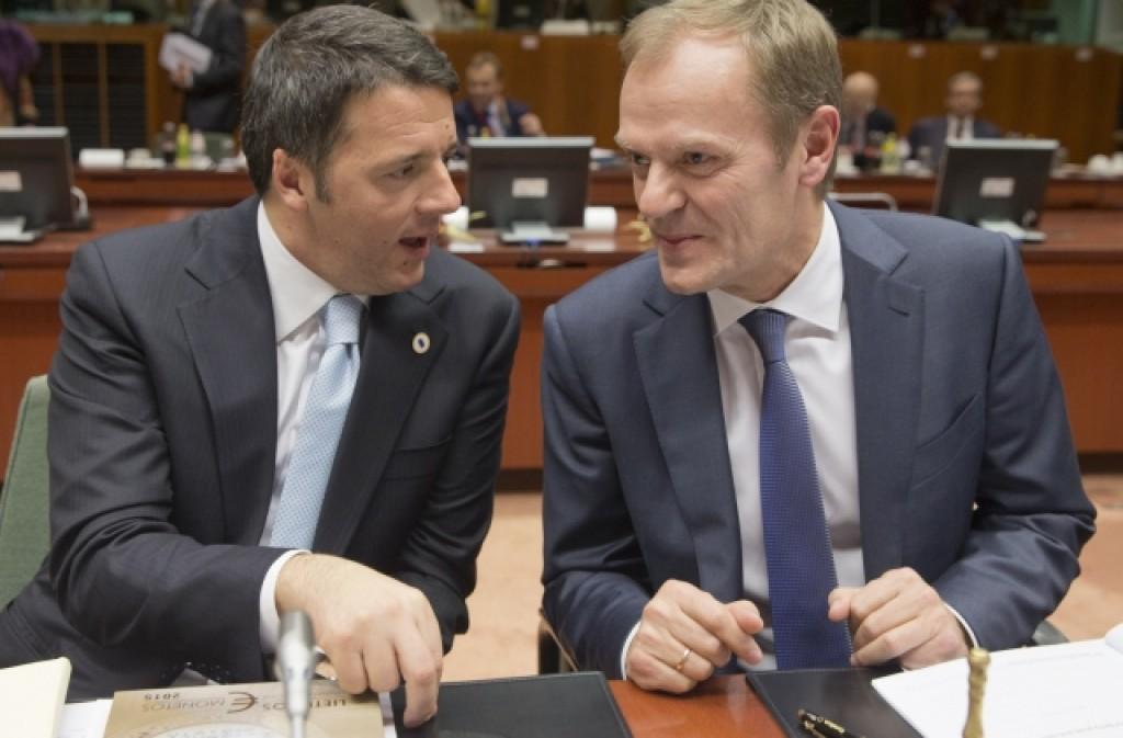 Renzi e Tusk al tavolo del Consiglio europeo