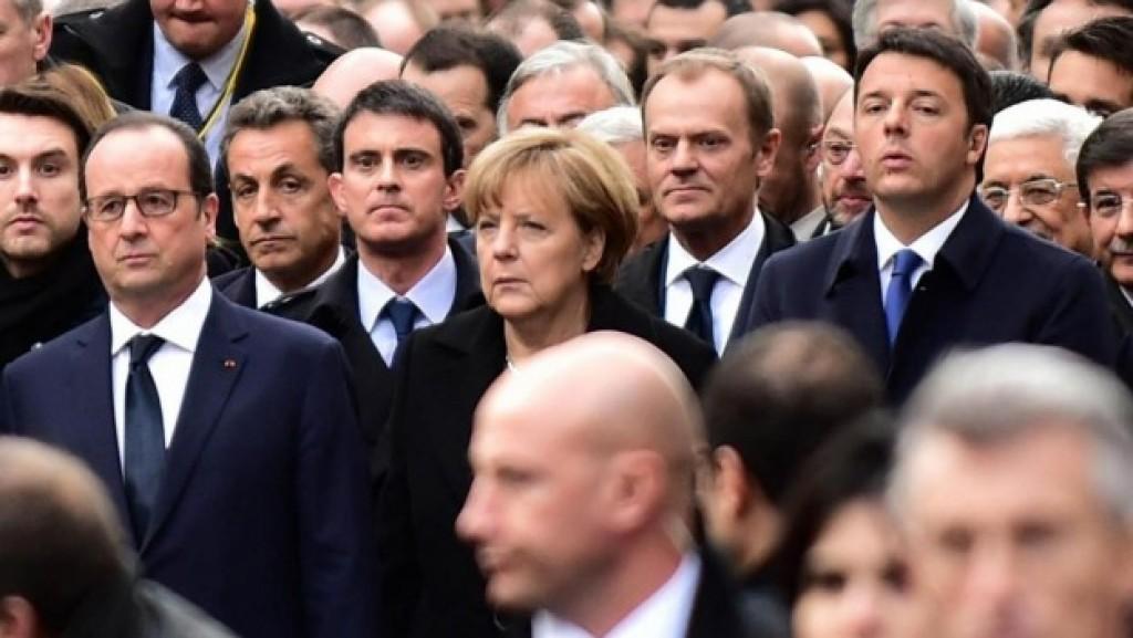I leader europei in marcia a Parigi contro il terrorismo