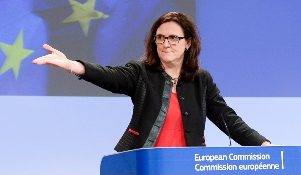 La commissaria al Commercio Cecilia Malmstrom