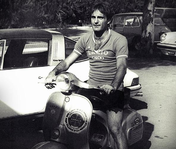 Pino Wilson con lla maglia della Lazio