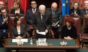 Il discorso di Mattarella al Parlamento