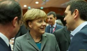 Hollande, Merkel e Tsipras