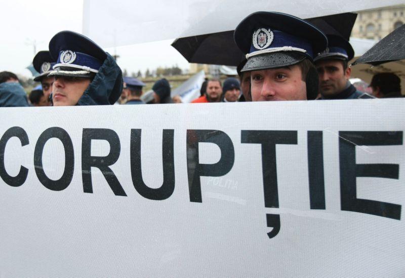 Una manifestazione contro la corruzione in Romania