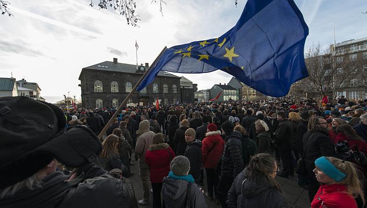 Iceland Eu protest