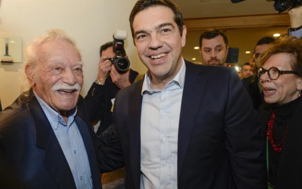 Glezos e Tsipras