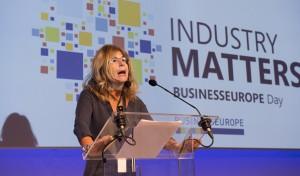 Il presidente di BusinessEurope, Emma Marcegaglia, in occasione del BusinessEurope Day 2014, dedicato alla politica industriale