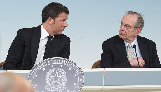 Renzi, Padoan, Juncker, flessibilità