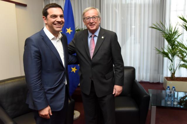 L'incontro tra Tsipras e Juncker - foto Commissione europea