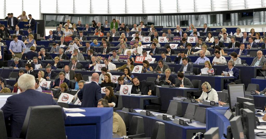L'aula di Strasburgo durante il dibattito