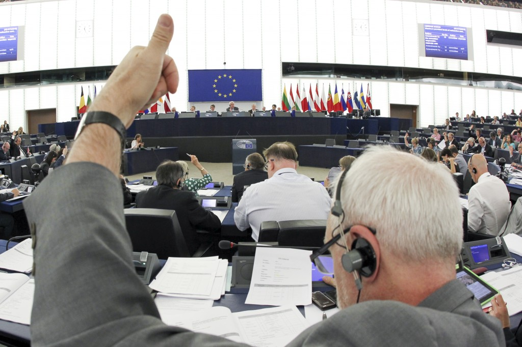 Il voto in aula - foto Parlamento Ue