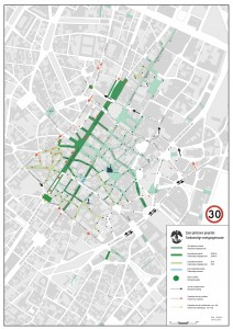 Il nuovo piano di circolazione - fonte Comune di Bruxelles