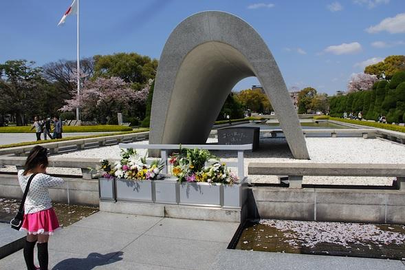 Il monumento alle vittime di Hiroshima