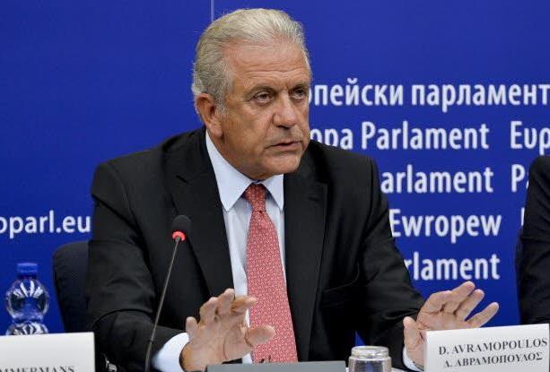Il commissario all'Immigrazione, Dimitris Avramopoulos