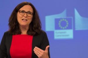 La commissaria al Commercio, Cecilia Malmstrom - foto Commissione europea