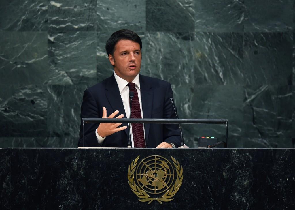 Il presidente del Consiglio Matteo renzi interviene all'Assemblea generale Onu (Fonte: Palazzo Chigi)