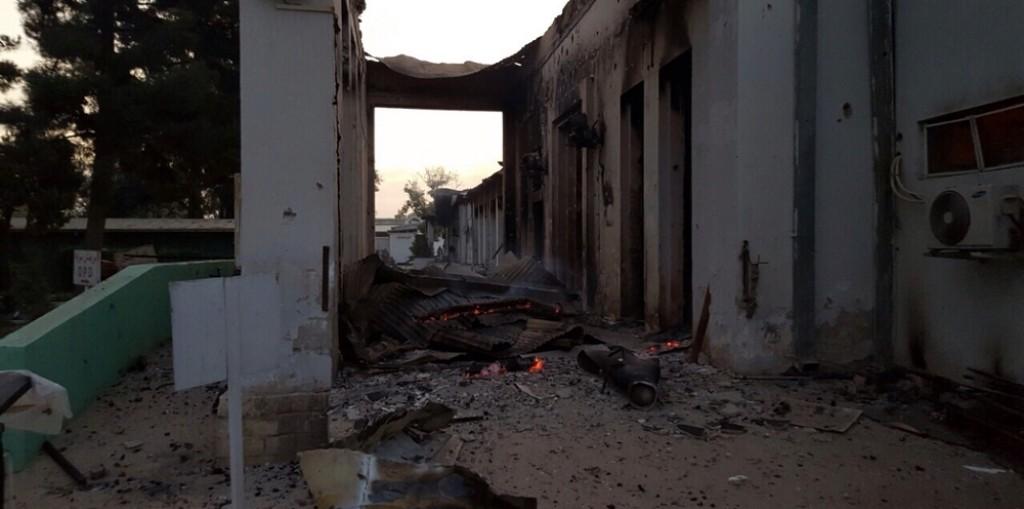 L'ospedale di Kunduz dopo il bombardamento - foto Medici Senza Frontiere