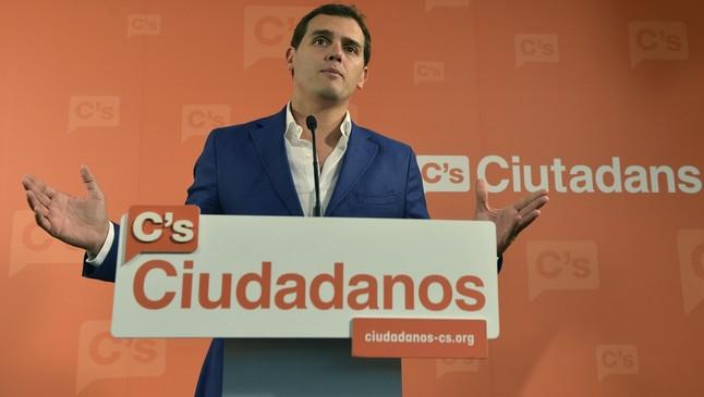 Il leader di Ciudadanos Albert Rivera